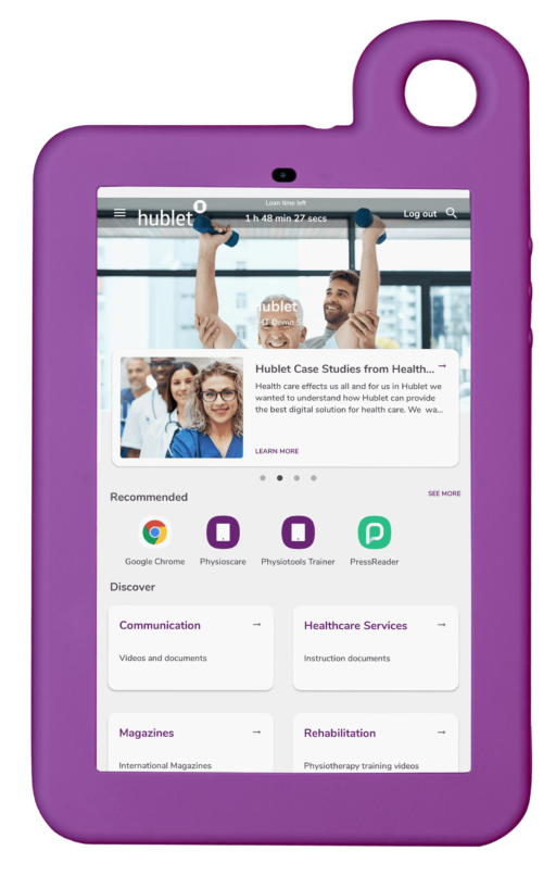 Hublet Tablet with User Profiles for Health care