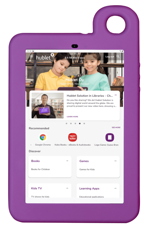Hublet Tablet with User Profiles for Library