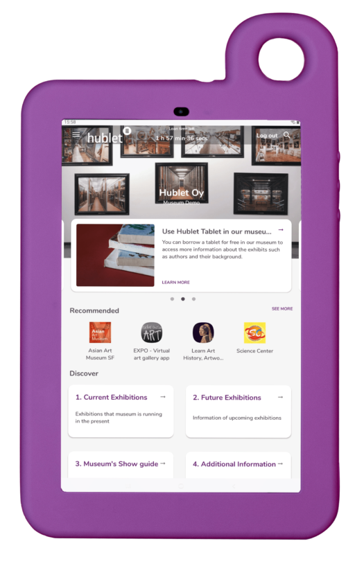 Hublet Tablet with Museum Science Centers Profile